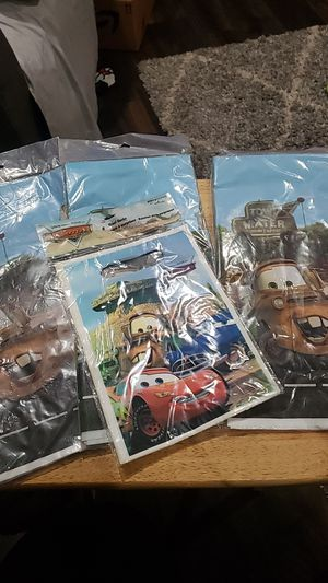 Disney CARS new PARTY lot TABLE COVER & LOOT BAGS for Sale in Ontario, CA