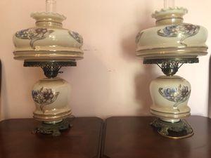Victorian Hurricane Lamps. for Sale in Lynchburg, VA
