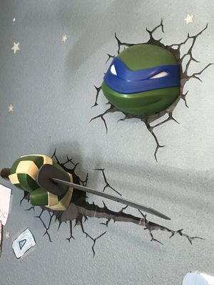TMNT Leonardo 3D Wall Deco LIGHT UP Set for Sale in Cashmere, WA