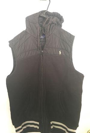 Ralph Lauren Polo Hoodie Vest sz Large Men Black for Sale in Stone Mountain, GA