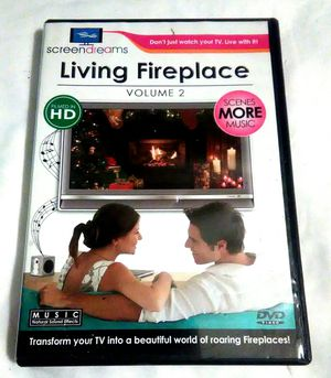 LIVING FIREPLACE Volume 2 DVD Transform your TV into a Beautiful World of Roaring Fireplaces! 21 Scenes 10 Music & Sound Effects for Sale in Largo, FL