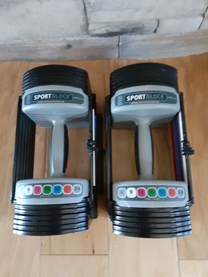 Sport Block Adjustable Weight Set ( Maximum 24lbs. Each Bar ). for Sale in Apple Valley, CA