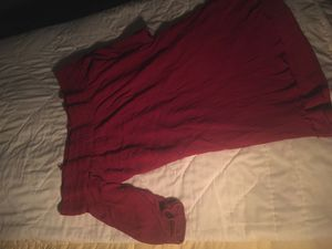 Red Off shoulder Dress/Shirt size L for Sale in Corona, CA