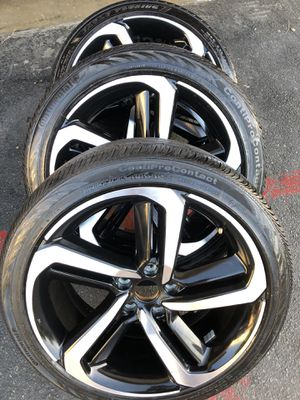 Rims and tires 19x8 5x114 honda acord sport as is rashes scratches good tires for Sale in Santa Ana, CA