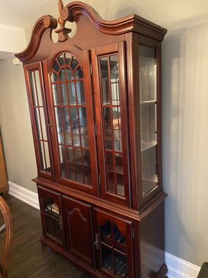 Beautiful Cherry China Cabinet for Sale in Silver Spring, MD