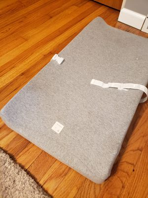 Baby changing table pad and Burt's Bees Baby cover for Sale in McKees Rocks, PA
