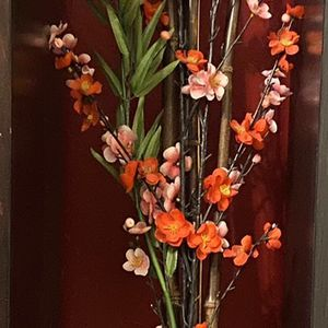 Flowers With Vase & Bamboo Sticks for Sale in Phoenix, AZ
