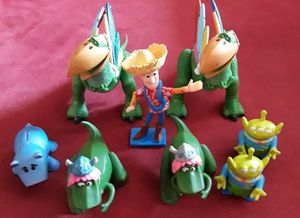 Toy story characters collectables $5 pig and Aliens for Sale in Lawndale, CA