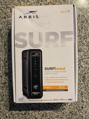 Arris Surfboard SBG10 Cable Modem and WiFi Router for Sale in Asheville, NC
