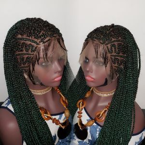 """Hot Long cornrow Braided Wig 13""""x 4"""" color 1, Green Length 24"""" to 26"""" for Sale in Miramar, FL"""
