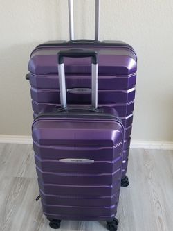 Samsonite Tech 2 Piece Purple, Carry On and Check Luggage for Sale in Garland,  TX