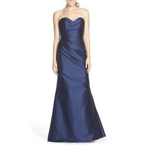 Jim Hjelm occasions, blue satin gown, size 12 for Sale in Silver Spring, MD