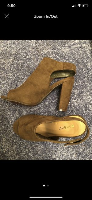 Olive Peep toe heels for Sale in Tampa, FL
