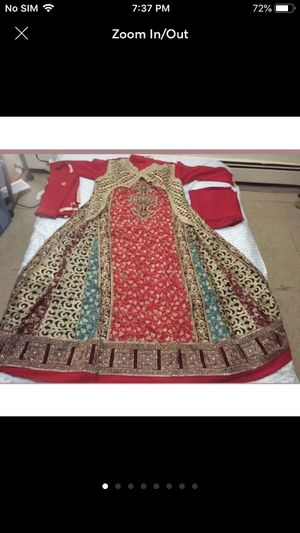 Fancy Pakistani Indian shalwar kameez party wedding dress outfit women's clothes for Sale in Silver Spring, MD