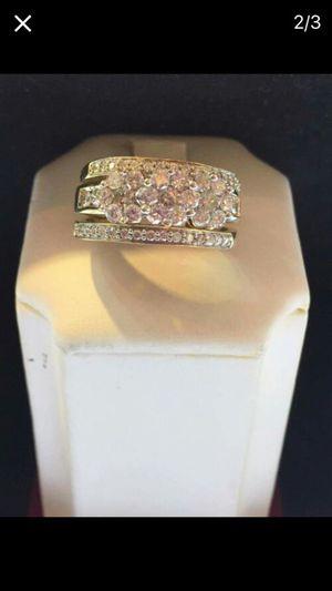 1.50 ct diamond ring 3 pcs set 14kt gold size 8 for Sale in Manassas, VA