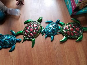 Wall decor.... metal painted Turtles for Sale in Silver Spring, MD