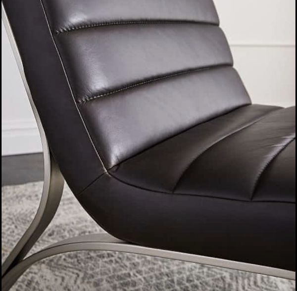 West Elm Leather Chairs 2x For Sale In Los Angeles Ca