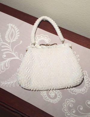Vintage Ivory Beaded Purse for Sale in Herndon, VA