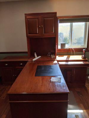 All Mahogany wood T-desk for Sale in Miami, FL