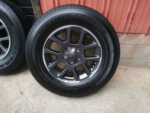 4- NEW 2020 Jeep 18in alloy rims and tires. for Sale in Mt. Juliet, TN