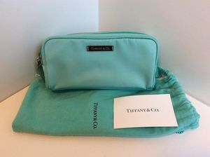 Authentic Tiffany & Co. Discontinued Teal Cosmetic Bag Case for Sale in Medina, OH