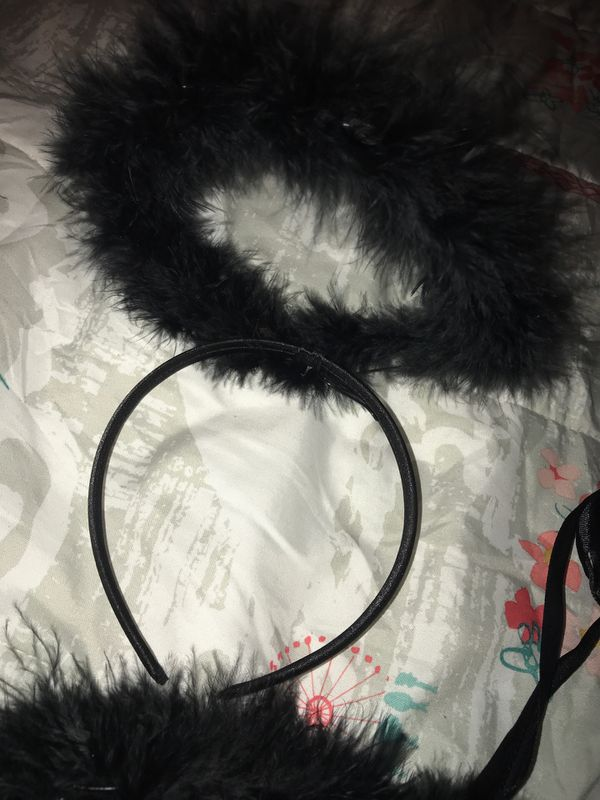 Black angel wings and head band