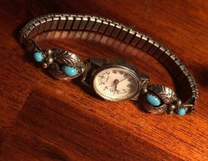 925 Sterling silver with turquoise watch jewelry for Sale in Phoenix, AZ