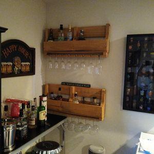 2 Liquor/Wine Bottle Racks With Wine Glass Hangers for Sale in Alexandria, VA