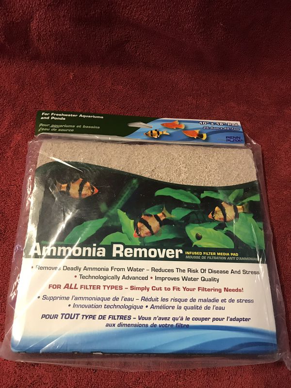 Penn Plax Cut To Fit Ammonia Remover Pad 10 Inches X 18 Inches $5