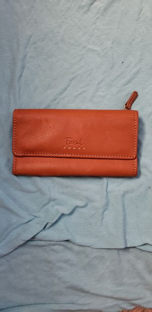 FOSSIL camel genuine leather wallet for Sale in San Diego, CA