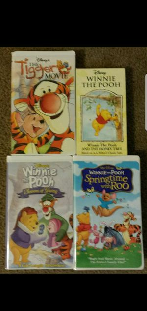 Walt Disney's Lot of 4 Winnie The Pooh And Friends / Roo / Tigger Movie VHS. for Sale in Mesa, AZ