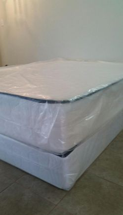 Queen size new thick pillow top bed can deliver for Sale in Sacramento,  CA