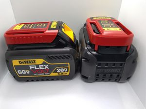 Dewalt flex volt 6.0ah battery pair for Sale in St. Peters, MO