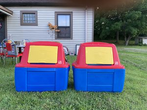 2 Step2 Blue and Red Toy Boxes for Sale in St. Peters, MO