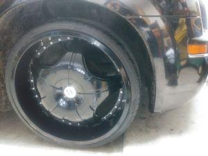 "Black 22"" rims 5 lug universal for Sale in Austin, TX"