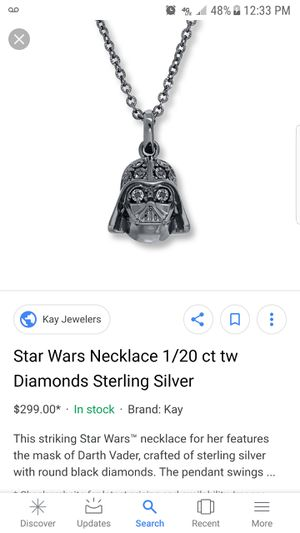 RL 925 Star Wars necklace for Sale in Mesa, AZ