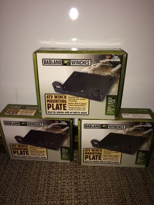 NEW Badland Winches ATV Winch Mounting Plates ($4 each