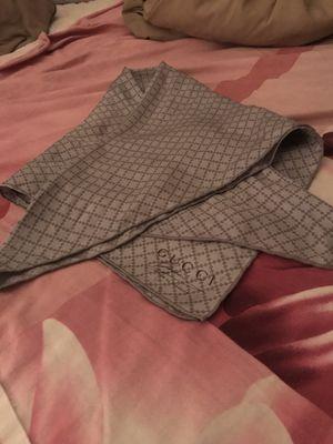 Gucci monogram/checkered fog-silver silk scarf/bandanna for Sale in Redlands, CA