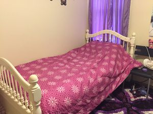 White bed with big mirror and droor for Sale in Concord, MA