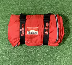 Vintage 90s Marlboro Roll Up Camping Sleeping Bag. Flannel Lining. 6ft long & 2.5ft wide. Good condition, Zipper Works. Washed & Clean. See pics. for Sale in Tamarac, FL