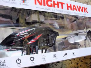 Night Hawk Jumbo R/C Helicopter WonderTech A12C 3.5 Channel / 2.4G New - for Sale for sale  Bristol, PA