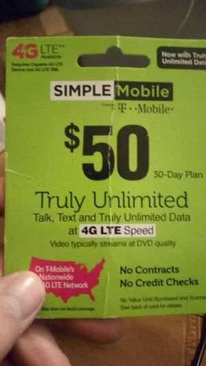 $50 t mobile pre paid card for Sale in Otsego, MI