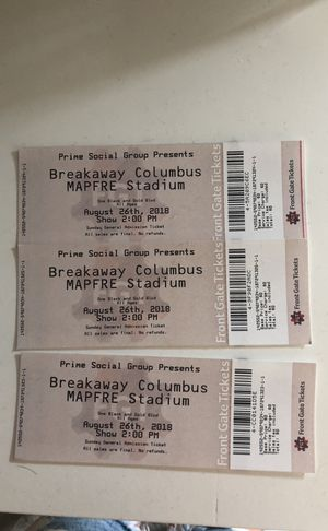 Breakaway tickets Sunday for Sale in Columbus, OH