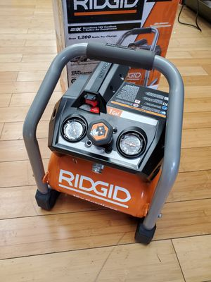RIDGID 18-Volt Cordless Brushless 1 Gal. Portable Air Compressor Tool only for Sale in Framingham, MA