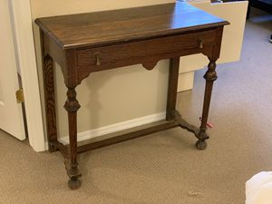 1800s antique oak side table with drawer for Sale in Phoenix, AZ