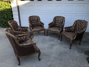 Vintage Tufted Leather Chairs for Sale in Arcadia, CA