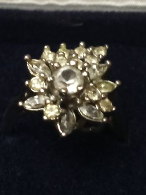 Beautiful crystal ring in 18khge for Sale in Akron, OH