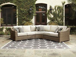 New Ashley furniture beachcroft outdoor patio furniture sectional for Sale in Hayward, CA