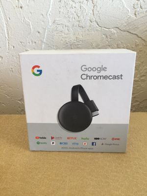 Google Chromecast 3rd Gen HDMI Media Streaming Latest Version New ORIGINAL in good shape NO CABLE for Sale in Everett, MA