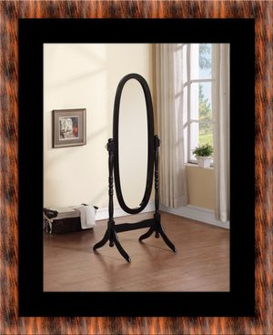 Black swivel oval mirror for Sale in Manassas, VA